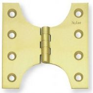 "Securit Parliament Hinges Chrome on Brass (1 1/2 Pair) - 4"" x 3"" x 5"""